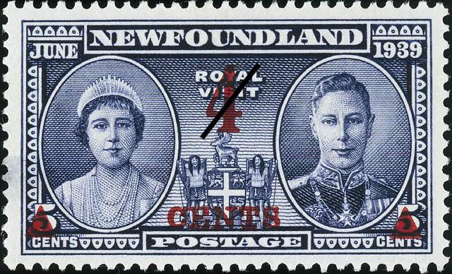 Royal Visit, June 1939 Newfoundland Postage Stamp
