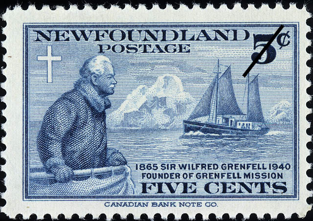 Sir Wilfred Grenfell, 1865-1940, Founder of Grenfell Mission Newfoundland Postage Stamp