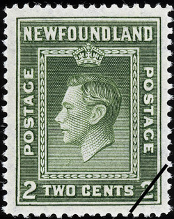 King George VI Newfoundland Postage Stamp