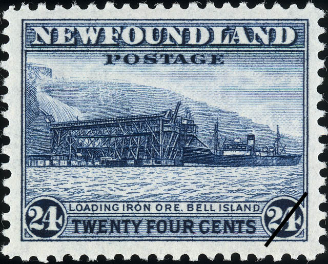 Loading Iron Ore, Bell Island Newfoundland Postage Stamp