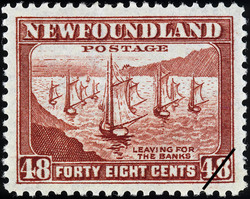 Leaving for the Banks Newfoundland Postage Stamp