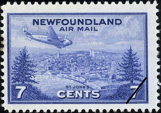 St. John's, Air Mail Newfoundland Postage Stamp