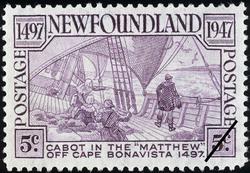 """Cabot in the """"Matthew"""" off Cape Bonavista, 1497-1947 Newfoundland Postage Stamp"""