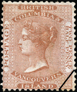 Queen Victoria British Columbia Postage Stamp