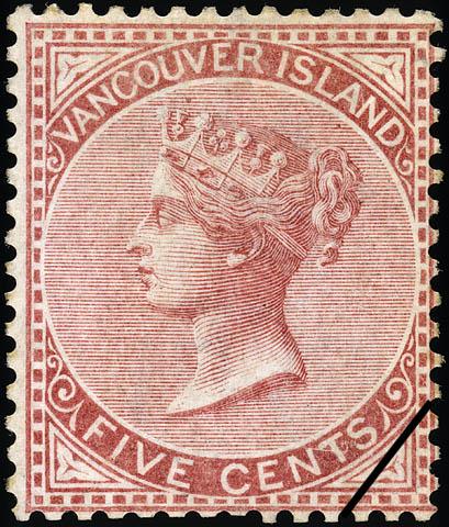 Queen Victoria British Columbia Postage Stamp