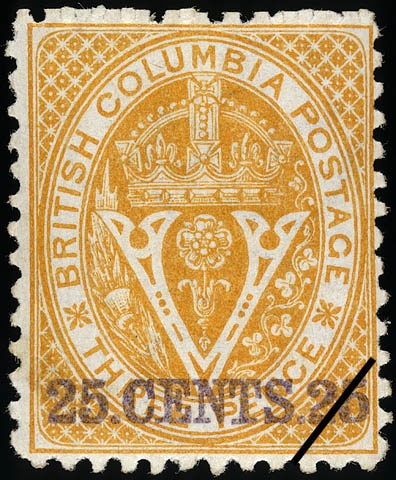Crown and Floral Emblems British Columbia Postage Stamp