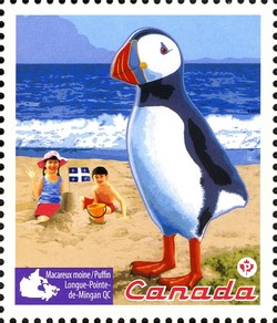 Roadside Attractions - Puffin Canada Postage Stamp