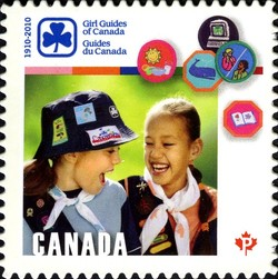 Girl Guides of Canada, 1910–2010 Canada Postage Stamp