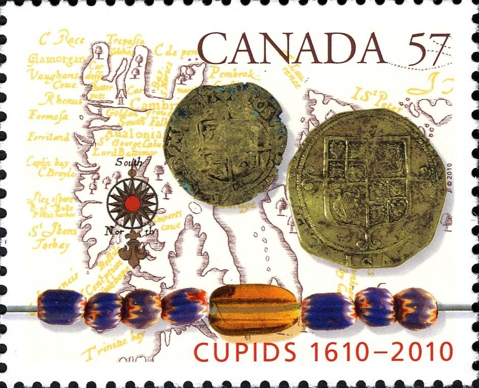 Cupids, 1610-2010 Canada Postage Stamp