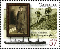 Home Children Canada Postage Stamp