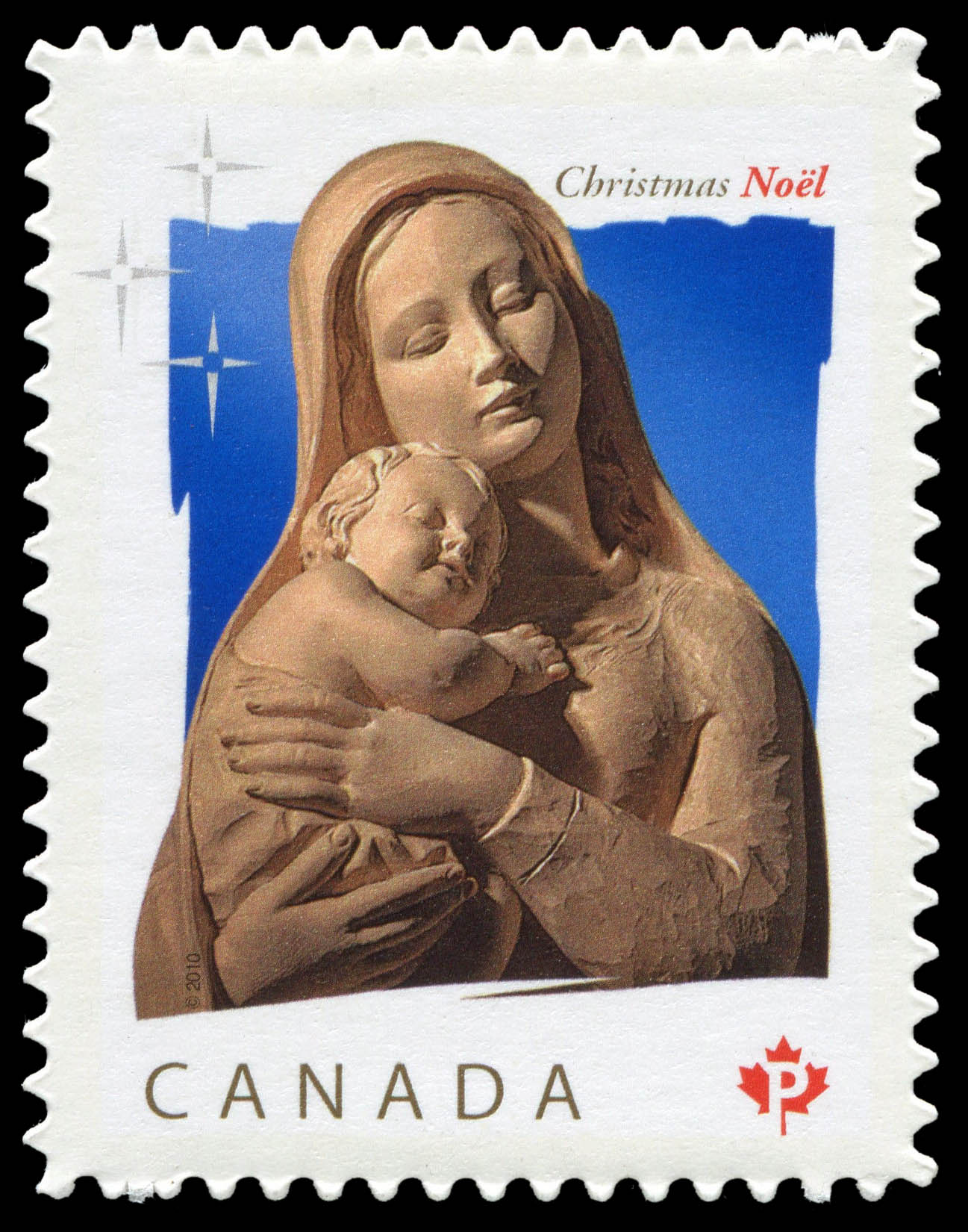 Madonna and Child Canada Postage Stamp | Christmas 2010