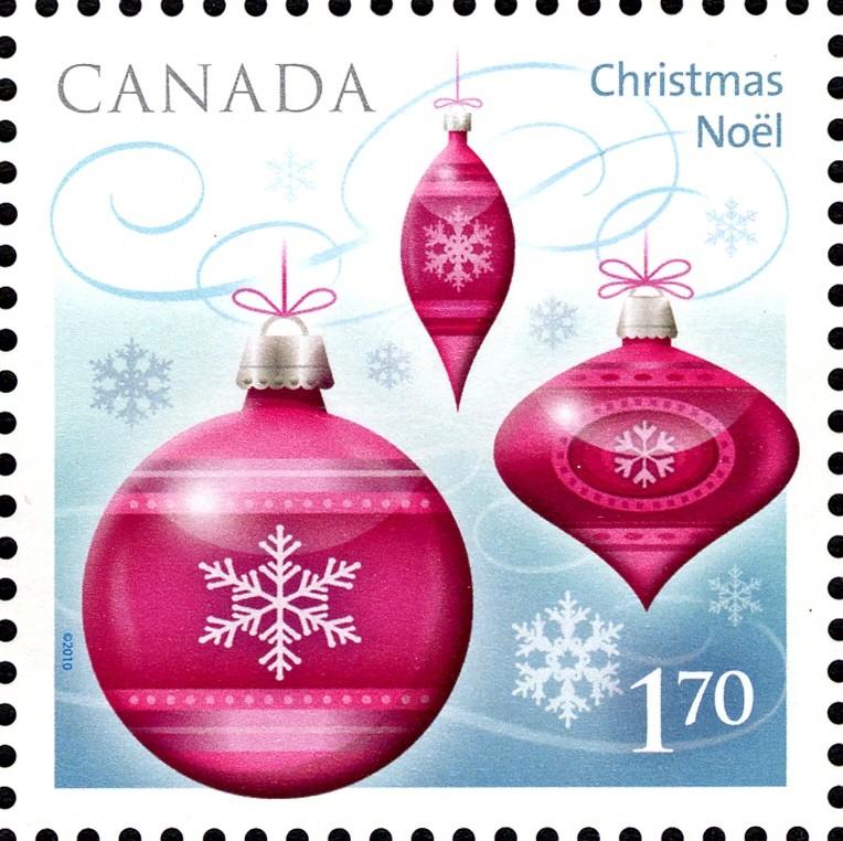 Christmas Ornaments Canada Postage Stamp | Christmas 2010