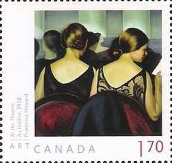 Prudence Heward - At The Theatre Canada Postage Stamp | Art Canada