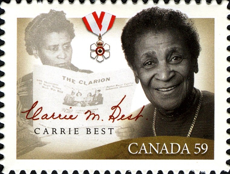 Carrie Best Canada Postage Stamp | Black History Month
