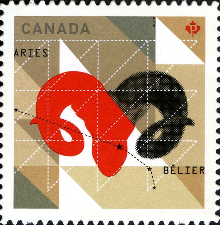Signs of the Zodiac: Aries Canada Postage Stamp