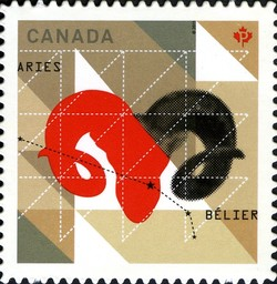 Signs of the Zodiac: Aries Canada Postage Stamp | Signs of the Zodiac