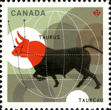 Signs of the Zodiac: Taurus Canada Postage Stamp | Signs of the Zodiac