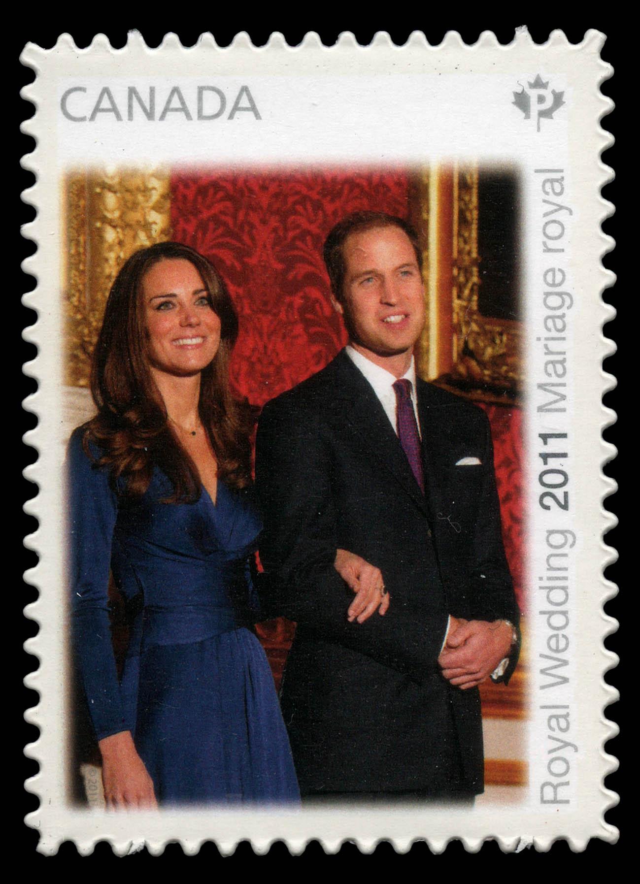 Royal Wedding 2011 - Engagement Canada Postage Stamp