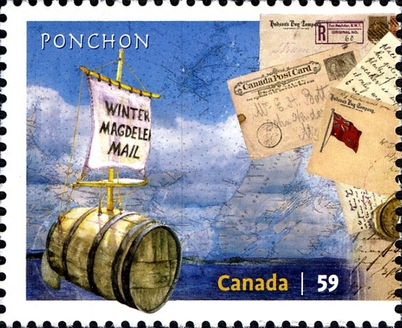 Ponchon Mail Delivery Canada Postage Stamp | Methods of Mail Delivery