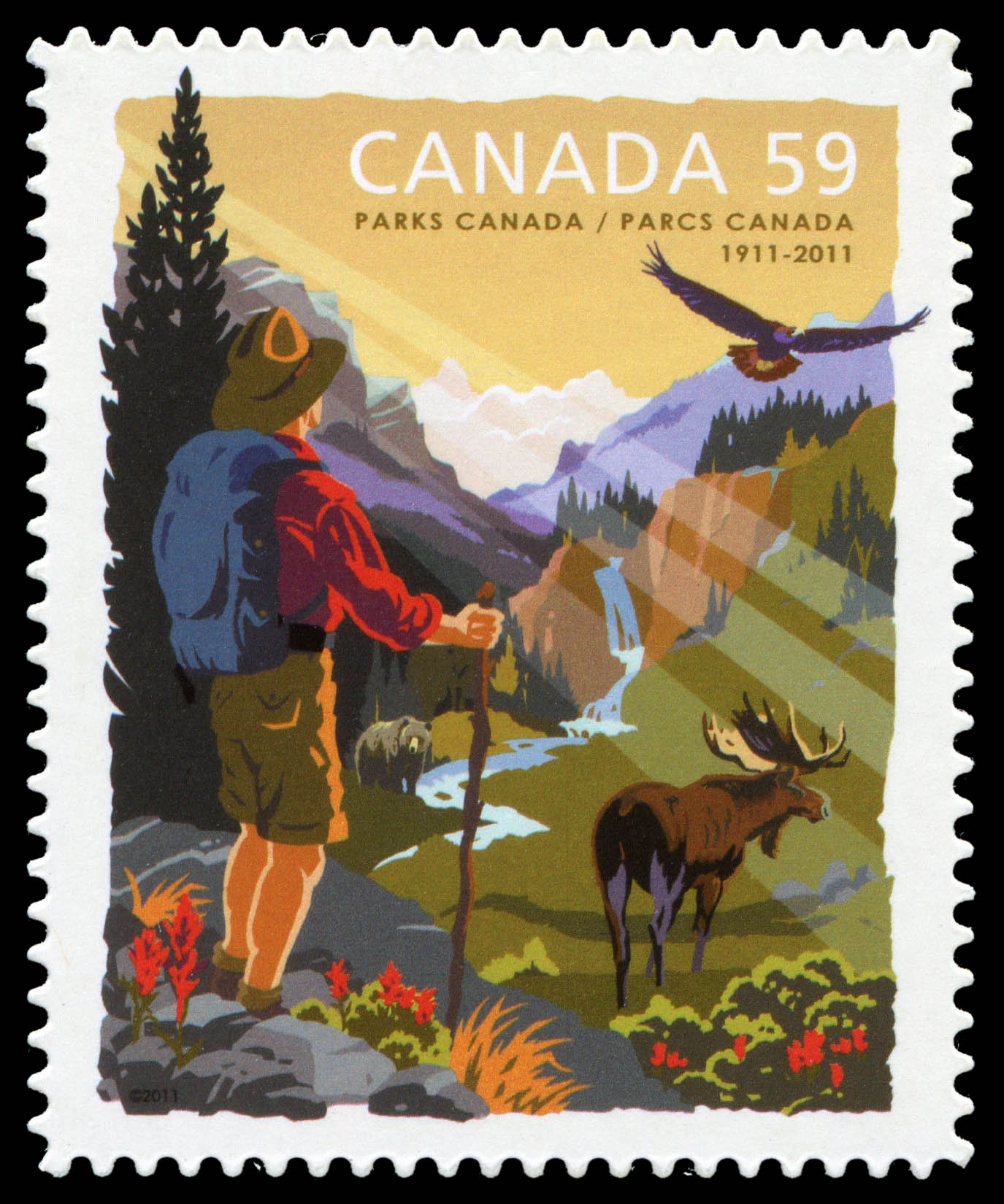 Parks Canada, 100th Anniversary Canada Postage Stamp