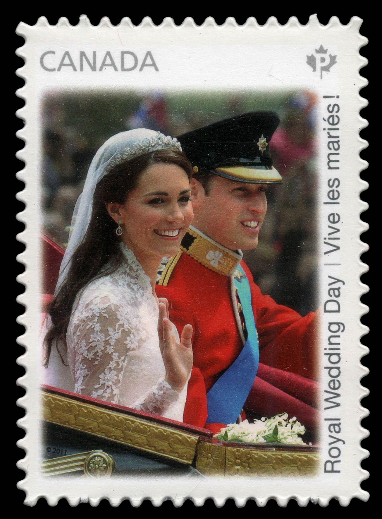 Royal Wedding Day Canada Postage Stamp