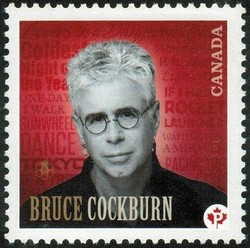Bruce Cockburn Canada Postage Stamp | Canadian Recording Artists