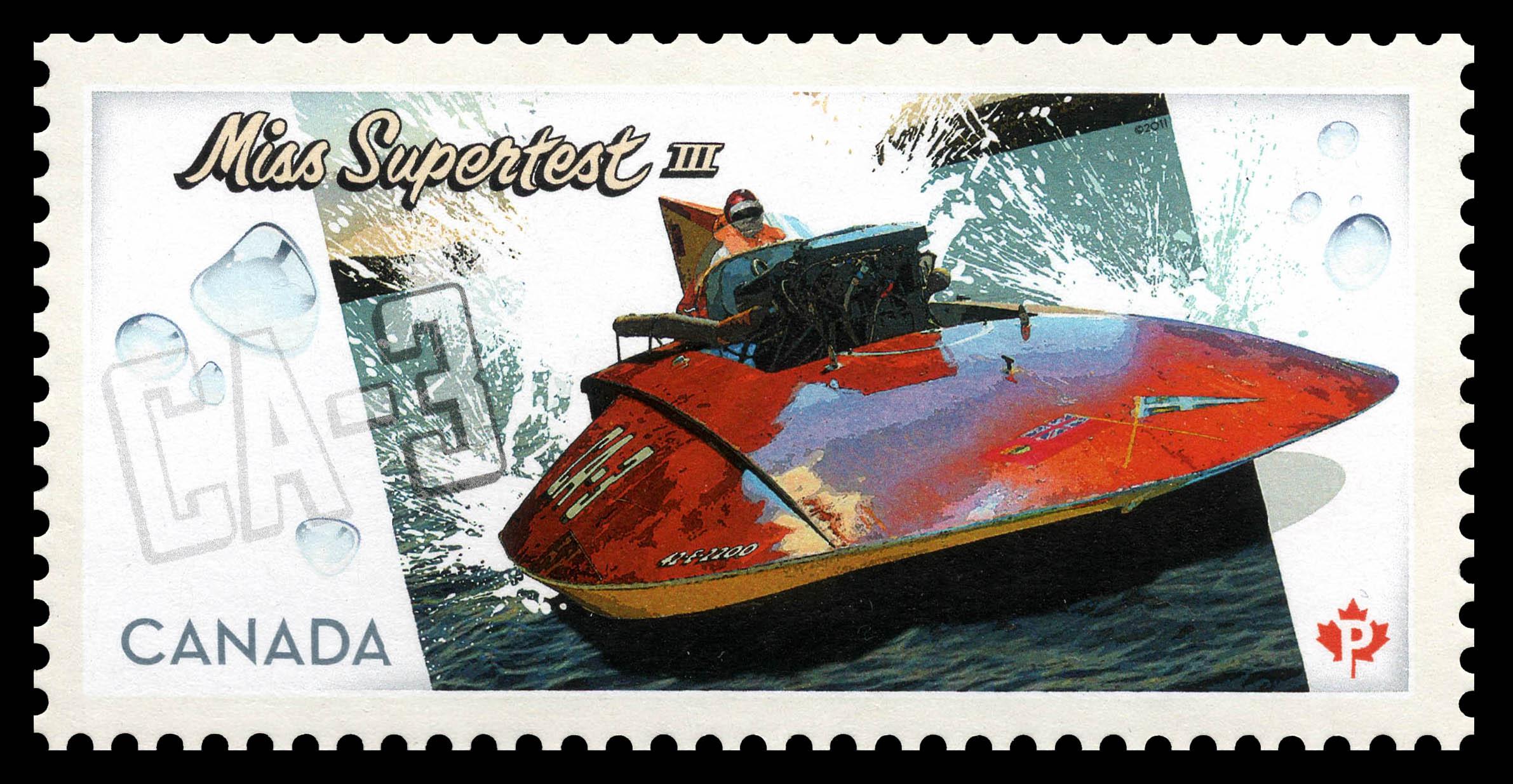 Miss Supertest III Canada Postage Stamp