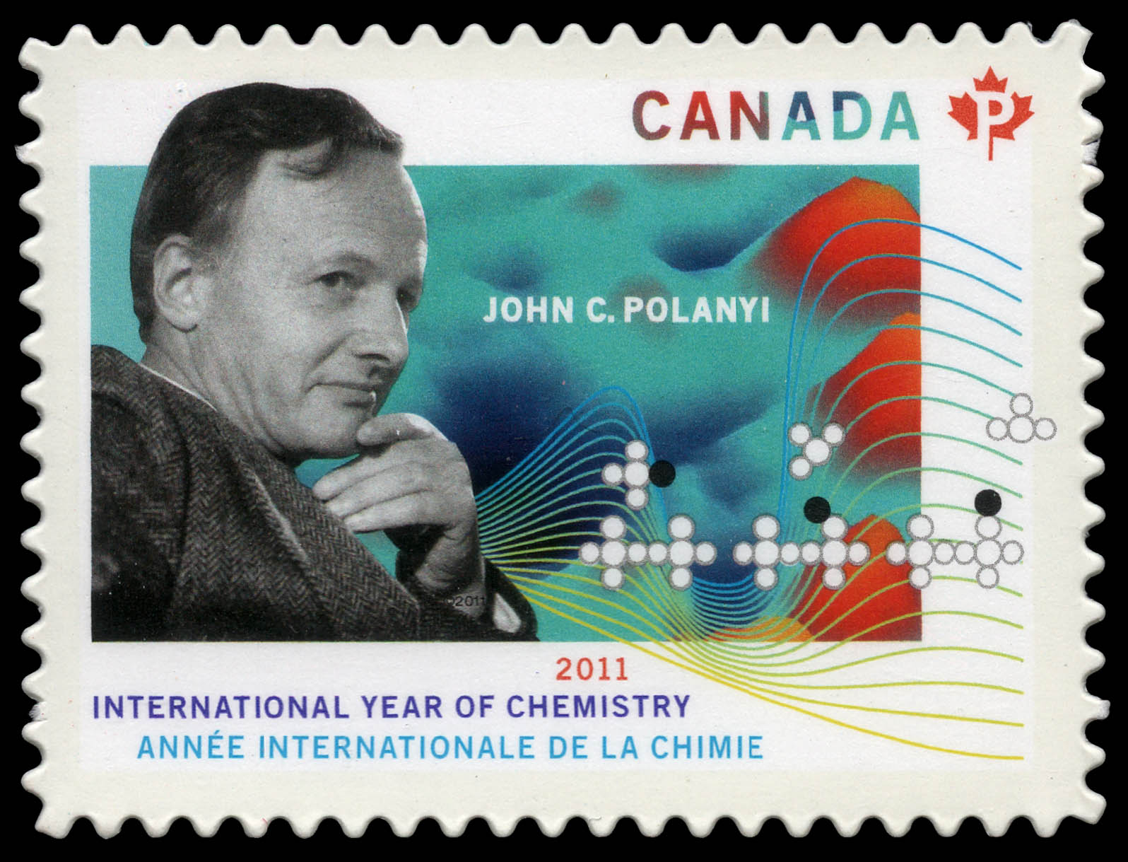John C. Polanyi - International Year of Chemistry Canada Postage Stamp