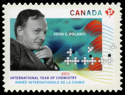 John C. Polanyi - International Year of Chemistry Canada Postage Stamp