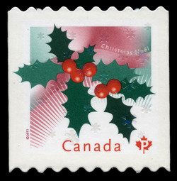 Christmas Holly Canada Postage Stamp | Christmas 2011