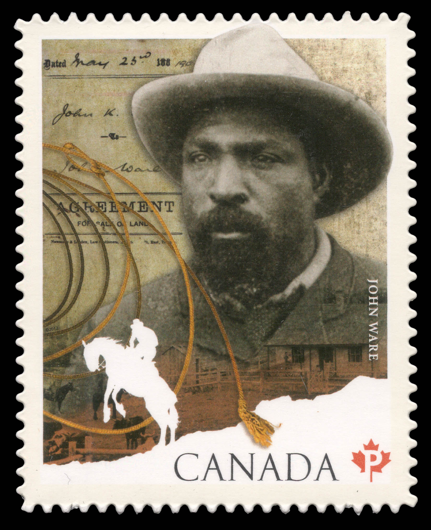 John Ware Canada Postage Stamp | Black History Month