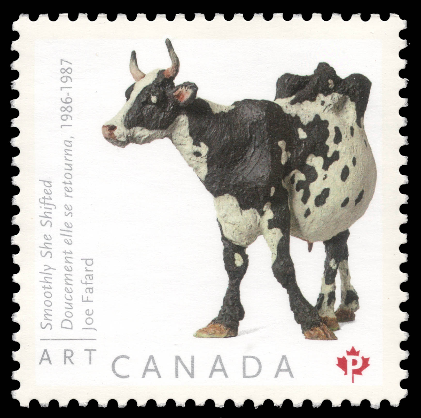 Smoothly She Shifted - Joe Fafard Canada Postage Stamp | Art Canada