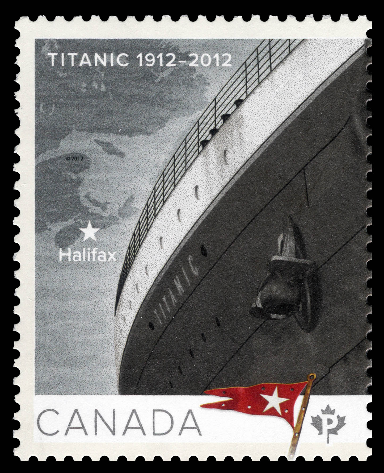 Titanic 1912-2012 Canada Postage Stamp | Centennial of the Sinking of the Titanic