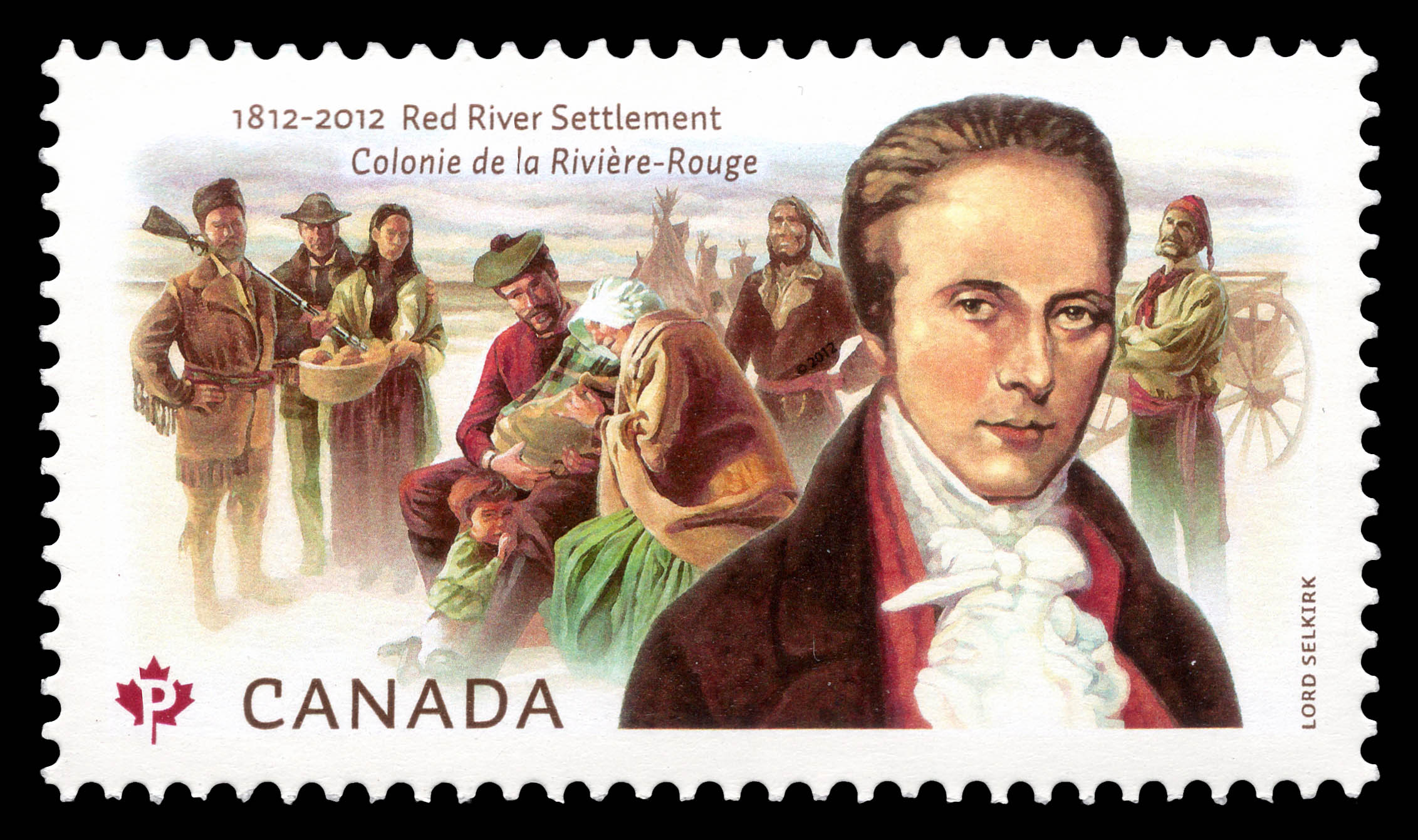 Red River Settlement Canada Postage Stamp