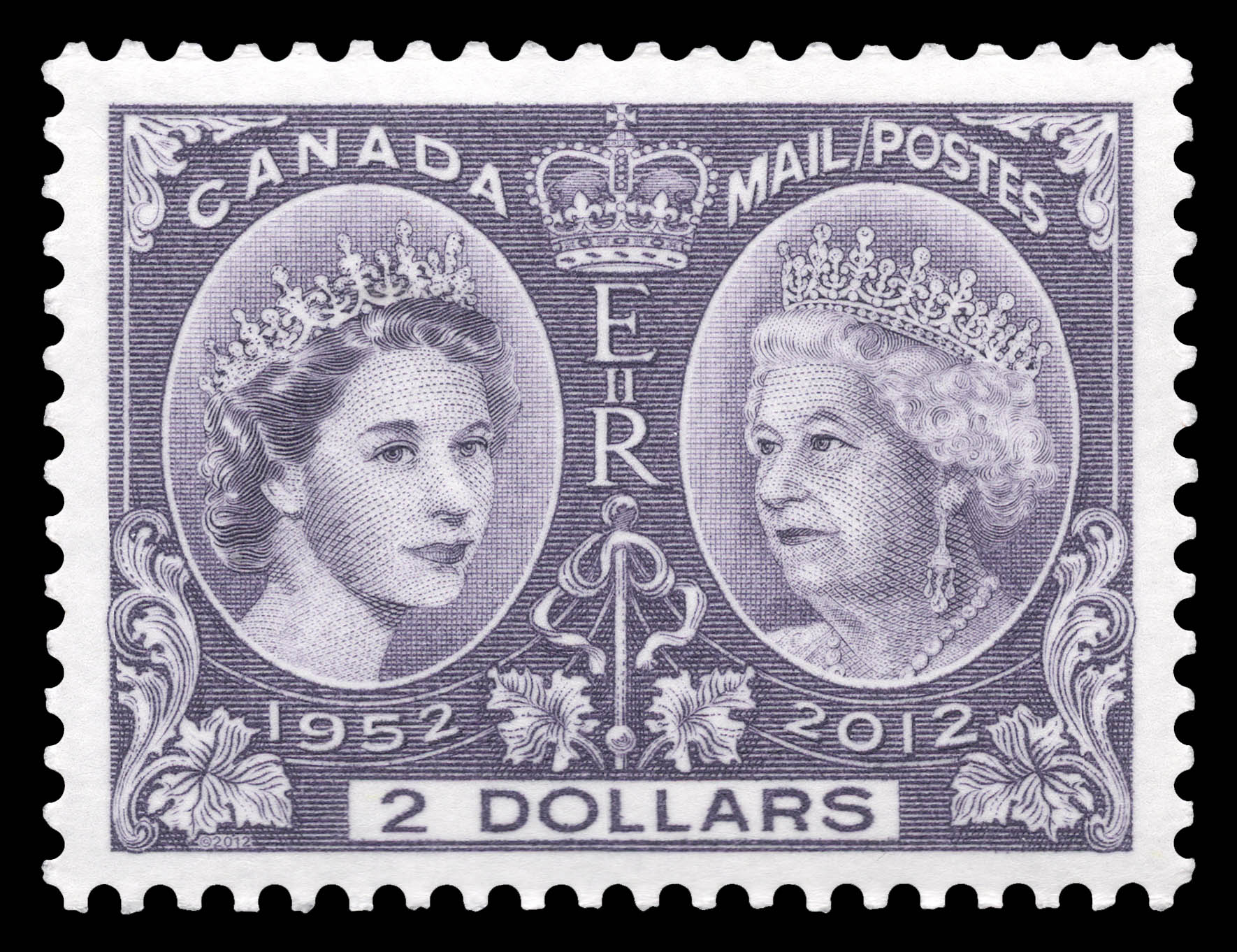 Queen Elizabeth II Diamond Jubilee Canada Postage Stamp   Queen Elizabeth II Diamond Jubilee
