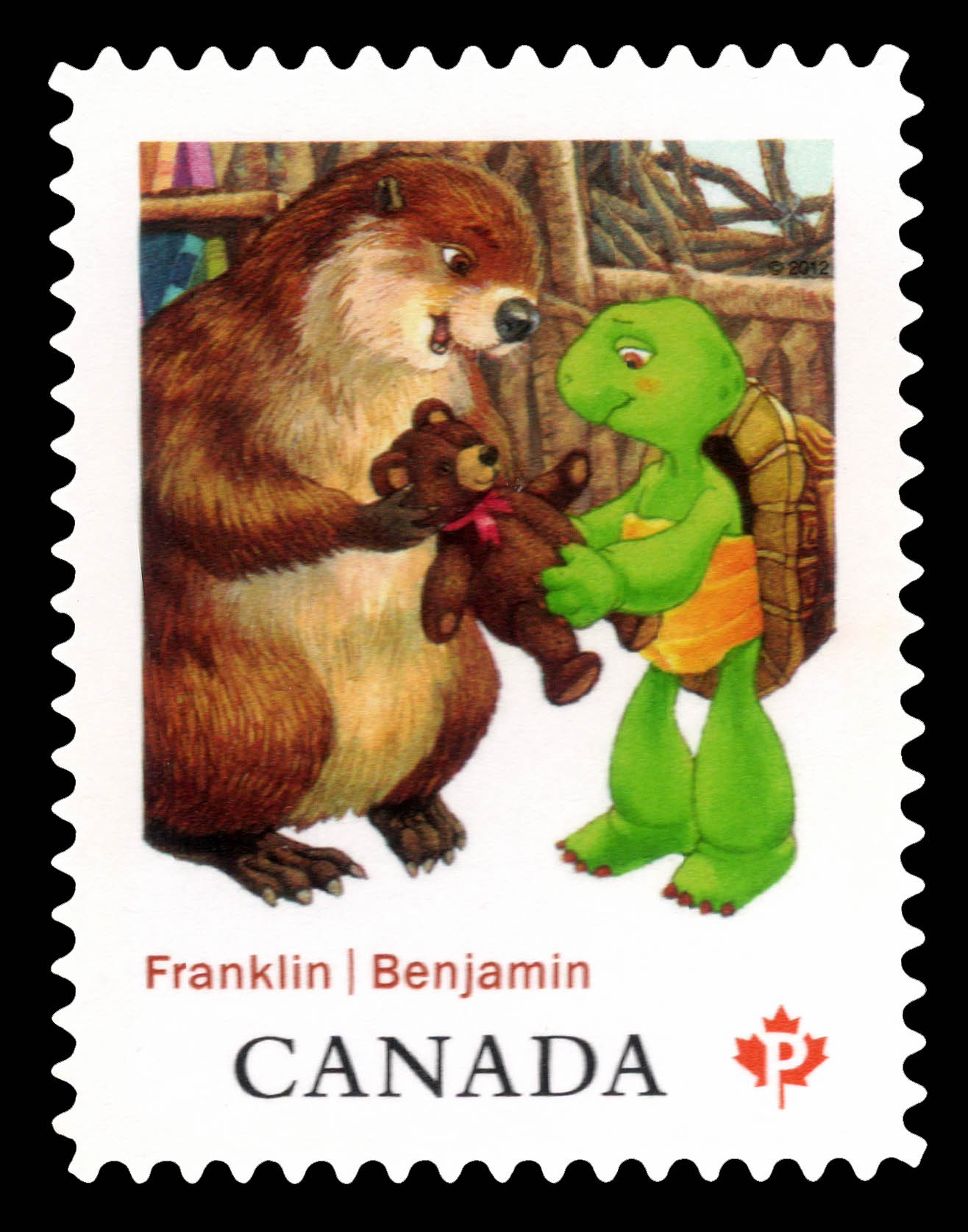 Franklin and Beaver Canada Postage Stamp | Franklin the Turtle - Children's Literature