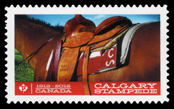 Horse Saddle: Calgary Stampede Canada Postage Stamp | Calgary Stampede - 100th Anniversary