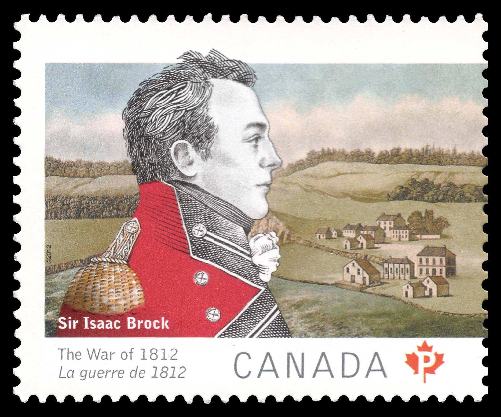 British Major-General Sir Isaac Brock Canada Postage Stamp | The War of 1812