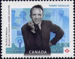 Tommy Douglas: The Birth of Medicare Canada Postage Stamp