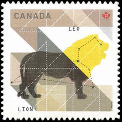 Signs of the Zodiac: Leo Canada Postage Stamp | Signs of the Zodiac