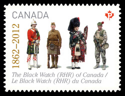 The Black Watch (Royal Highland Regiment) of Canada (1862 - 2012) Canada Postage Stamp | The Regiments