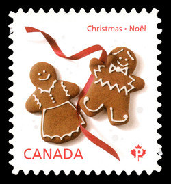 Gingerbread Man Cookies Canada Postage Stamp | Christmas Cookies