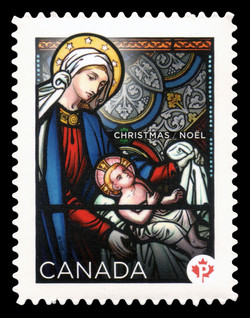 Christmas: Stained Glass Canada Postage Stamp