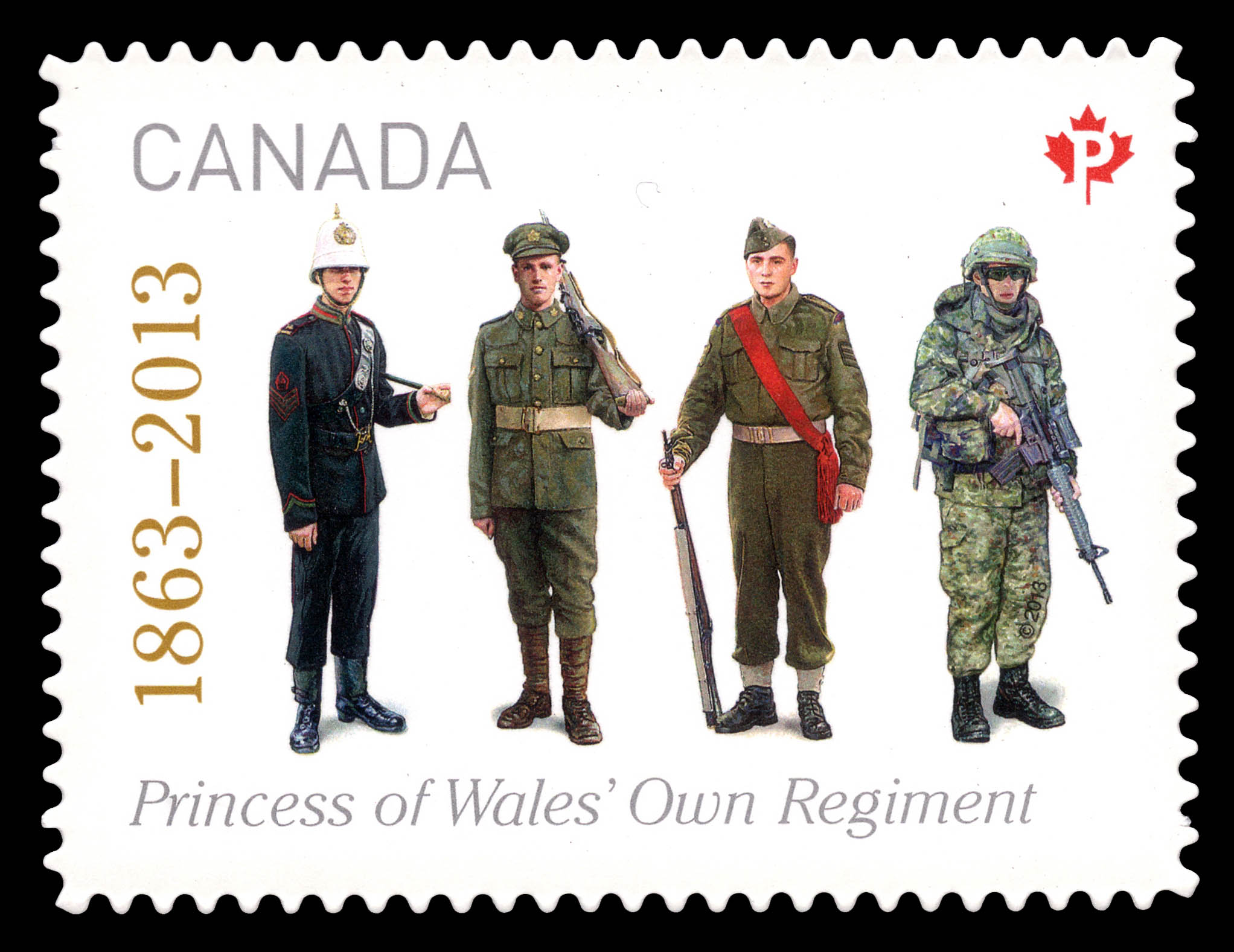 The Princess ofWales' OwnRegiment Canada Postage Stamp | The Regiments