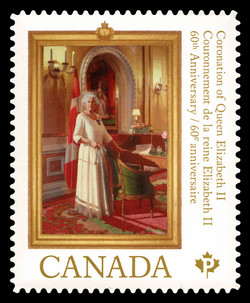 Queen Elizabeth II: 60th Anniversary of Her Majesty's Coronation Canada Postage Stamp