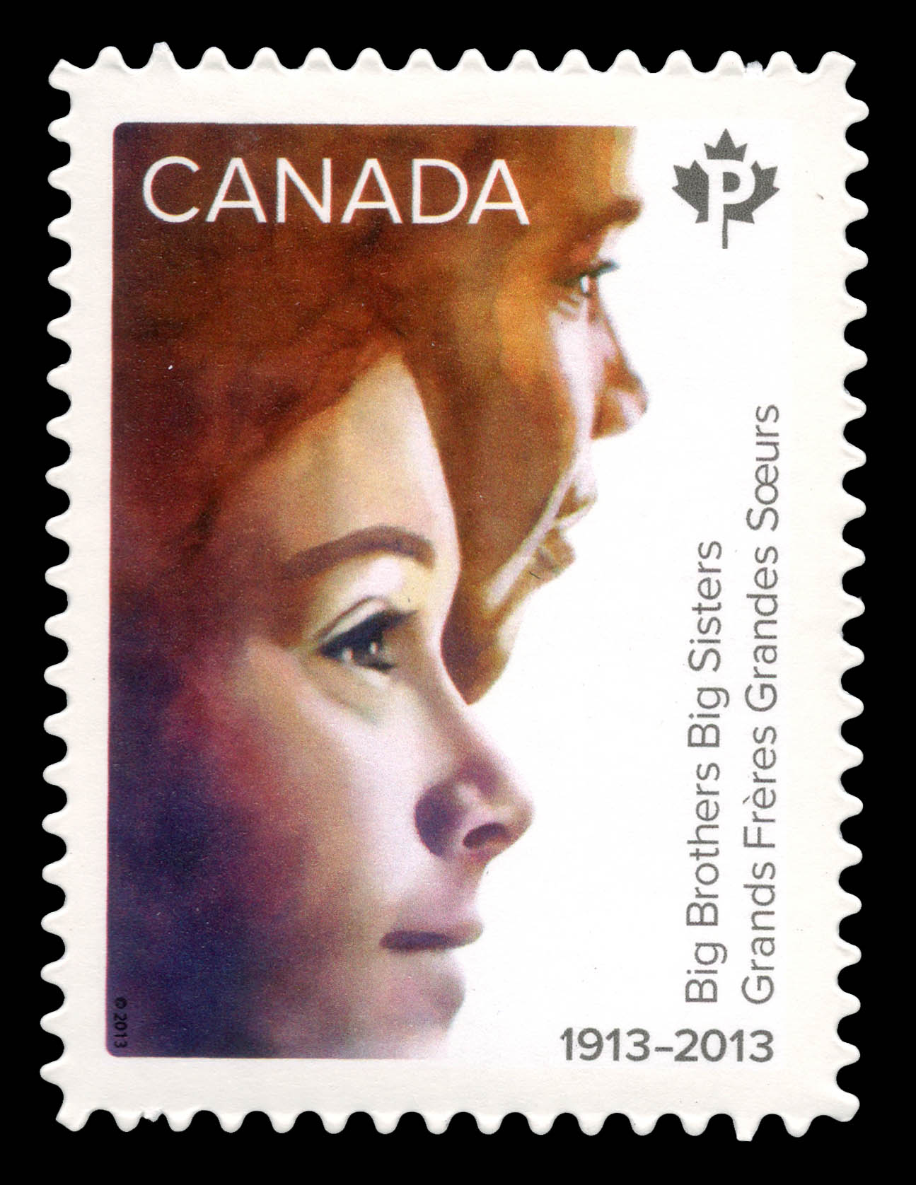 Big Brothers Big Sisters of Canada, 100th anniversary Canada Postage Stamp