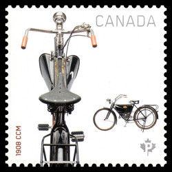 1908 CCM Motorcycle Canada Postage Stamp | Motorcycles