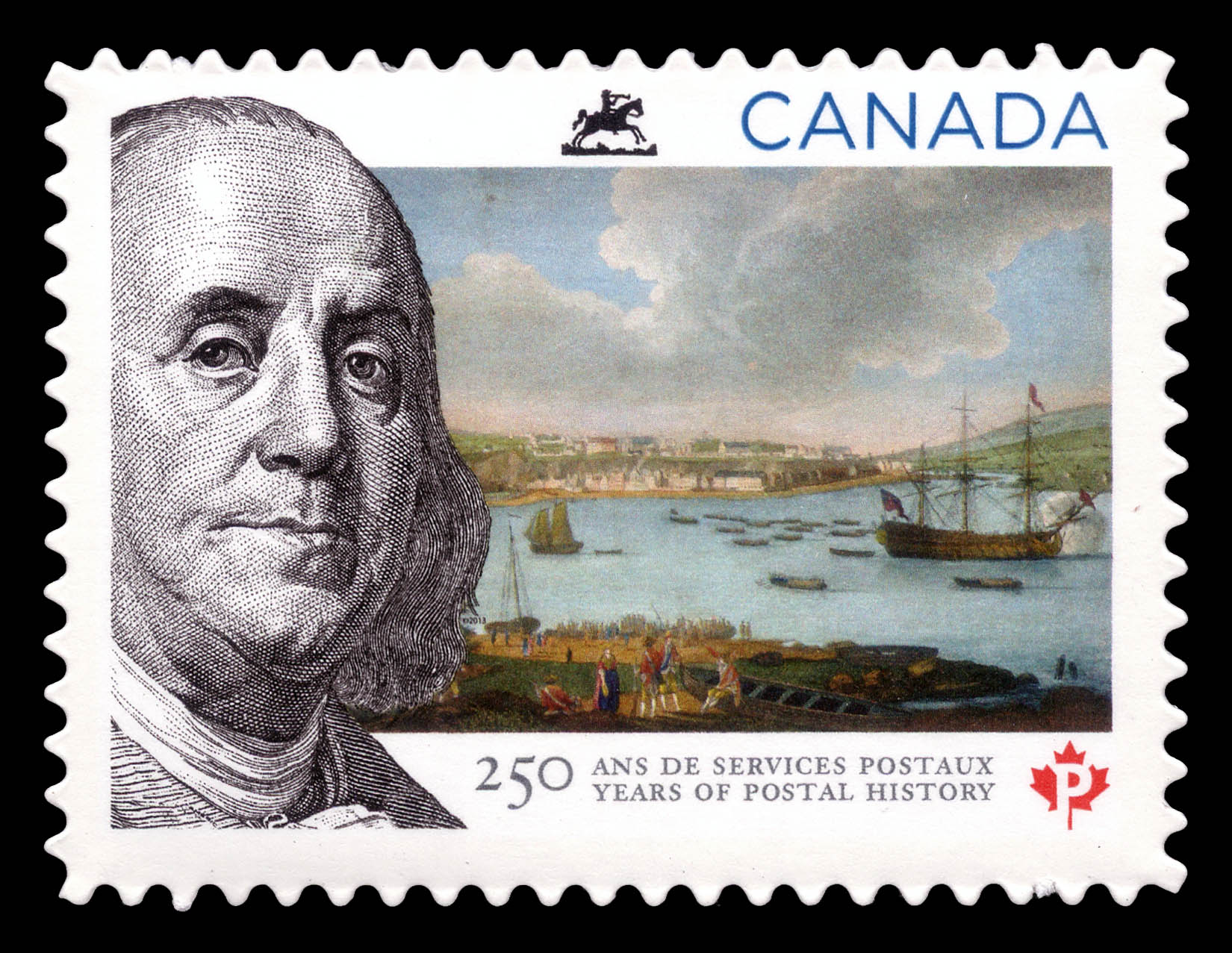 250 Years of Postal History Canada Postage Stamp