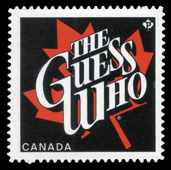 The Guess Who Canada Postage Stamp | Canadian Recording Artists