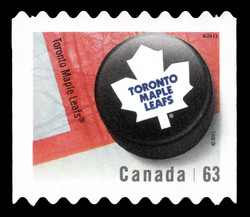Toronto Maple Leafs Canada Postage Stamp | NHL Canadian Team Pucks